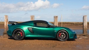 2016 Lotus Exige Sport 350 Green side view HD backgrounds