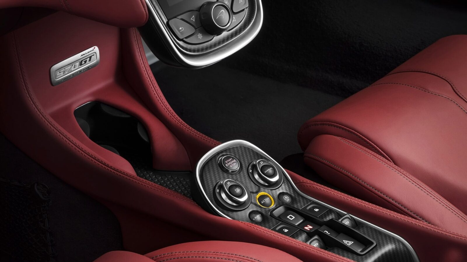 2016 McLaren 570GT interior HD wallpapers