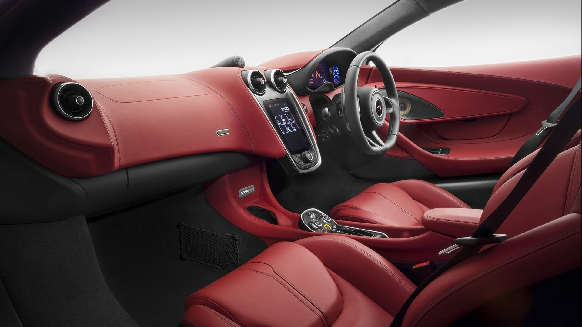 2016 McLaren 570GT interior red leather 1920x1080 wallpaper
