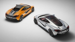 2016 McLaren 570GT silver and 570S orange wallpaper 1080p