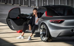2016 Opel GT girl wallpaper download