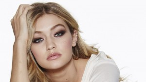 HD pic of Gigi Hadid face makeup eyes lips photo