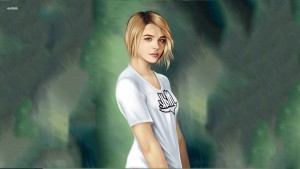 Image of Chloe Moretz art for iPhone