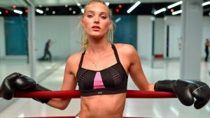Elsa Hosk boxing gloves 1920x1080 wallpaper