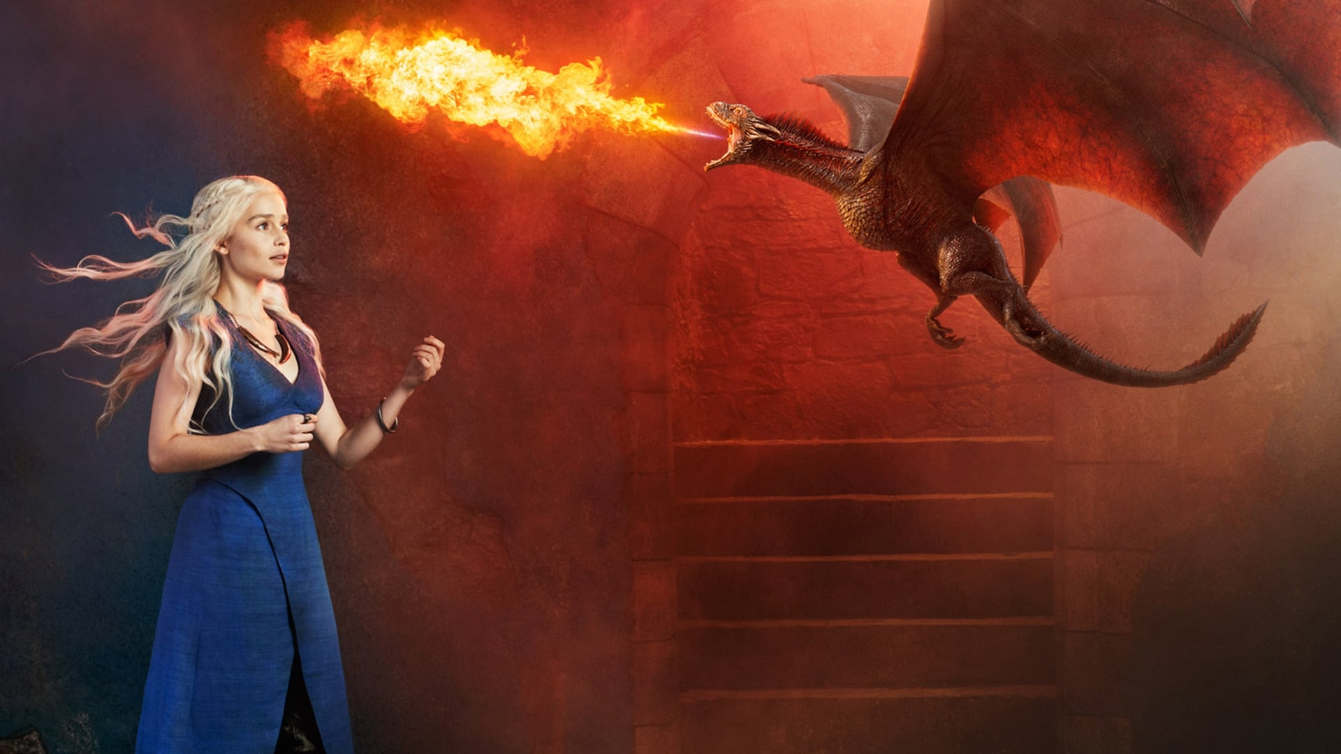 Emilia Clarke with dragon themes for PC