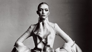 Gemma Ward bw widescreen