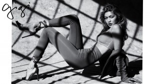 Gigi Hadid bw High Definition wallpaper