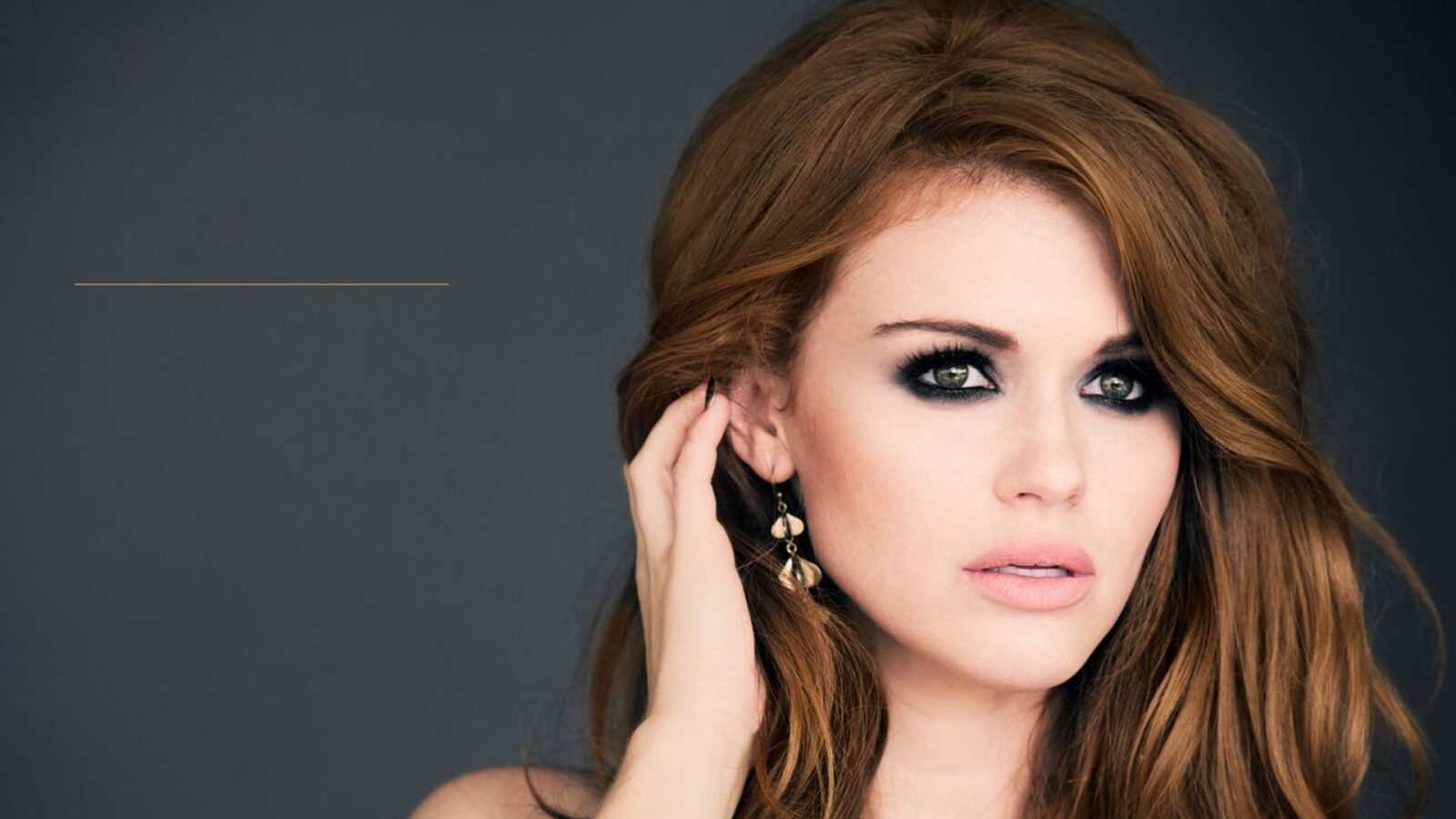 Wallpaper of Holland Roden eyes for Laptop