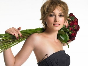 Keira Knightley roses full HD image