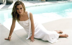 Keira Knightley white dress