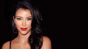 Kim Kardashian black theme widescreen