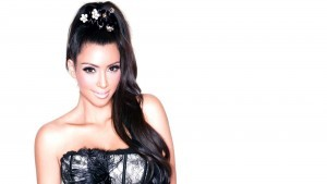 Kim Kardashian hairstyle background