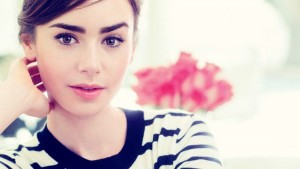 cute Lily Collins HD pic for PC