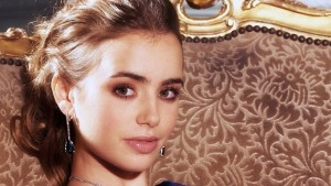 Lily Collins earrings walpapers for windows face