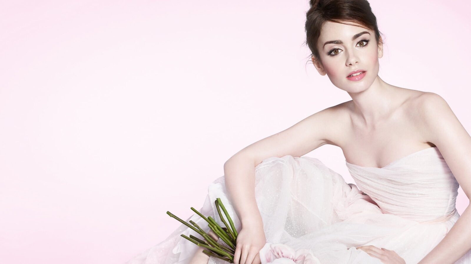 Best Lily Collins white dress wallpapers white backgrounds