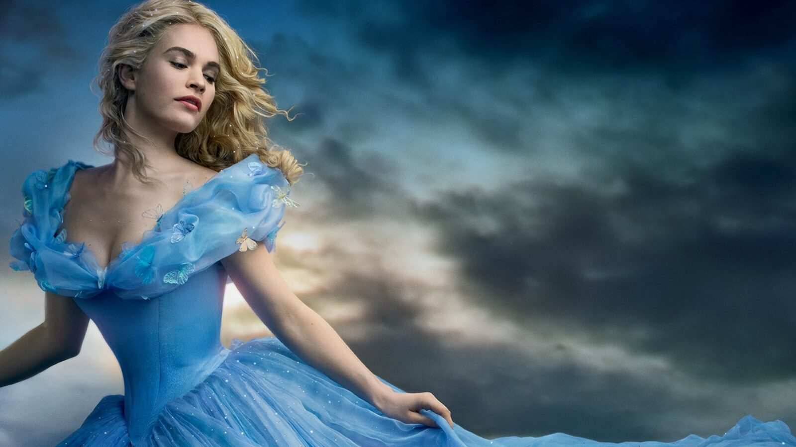 Lily James as Cinderella backgrounds