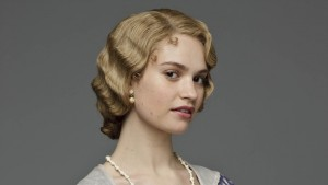 Lily James short hair
