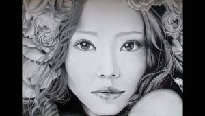 Namie Amuro drawing art background
