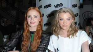 Sophie Turner with Natalie Dormer 2015