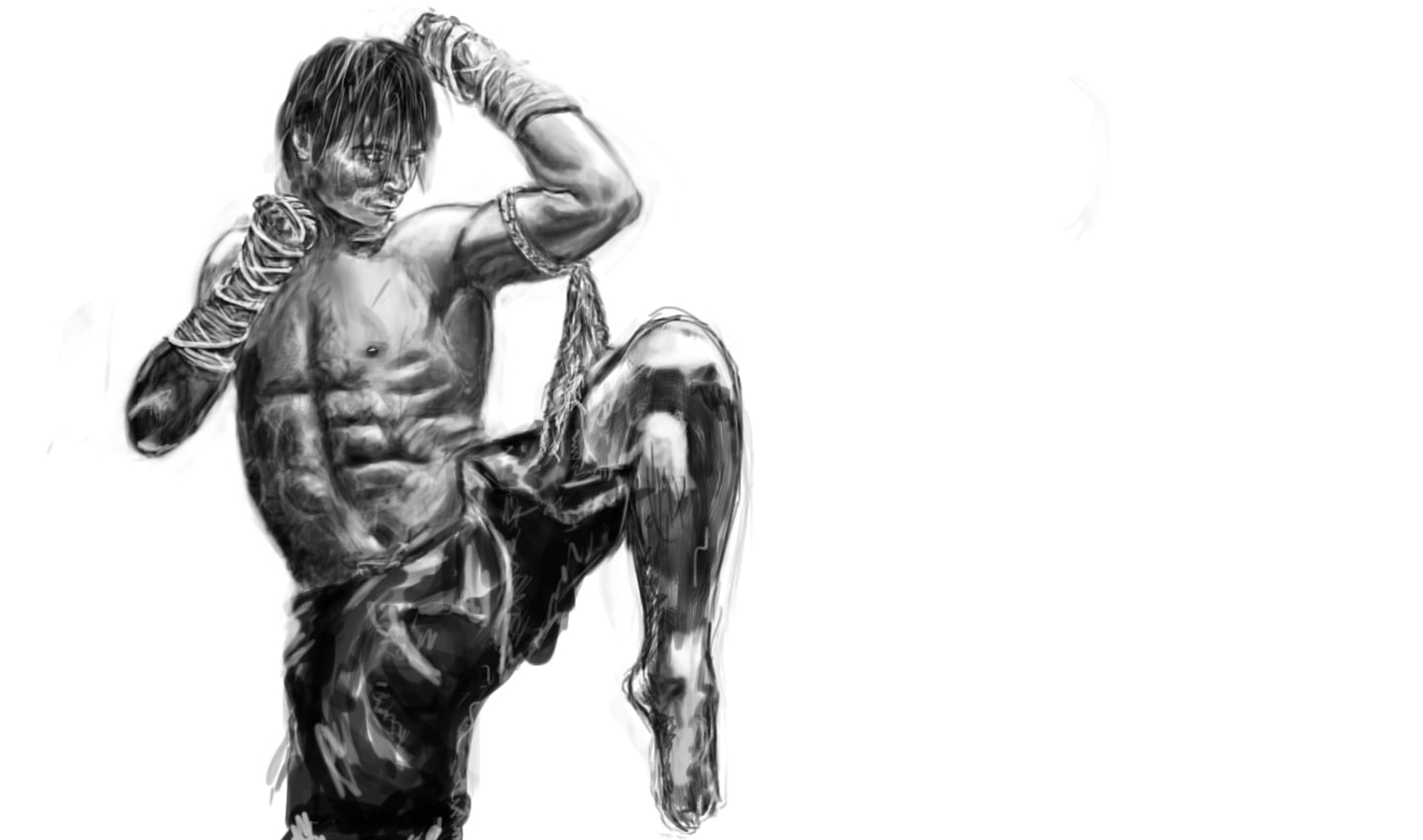 Tony Jaa draw wallpaper 1080p