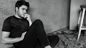 Wallpaper of Zac Efron for iPad