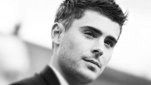 Zac Efron bw for desktop