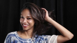 Zoe Saldana smile desktop HD