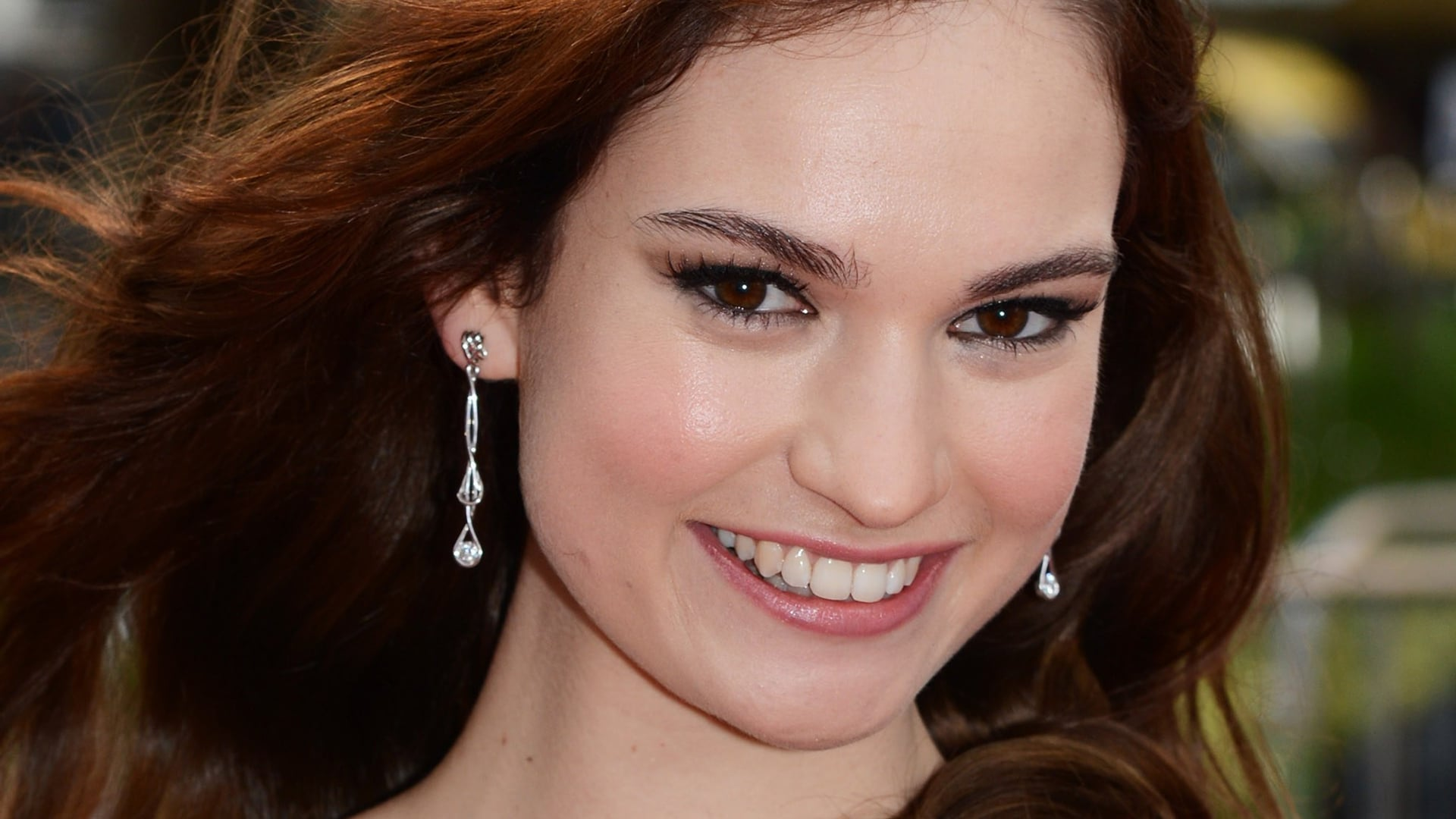 photo of Lily James smile