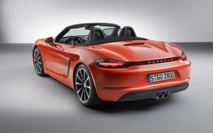red 2016 Porsche 718 Boxster S full HD image