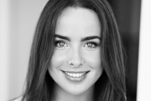 smile Ashleigh Brewer bw 1920x1080 wallpaper