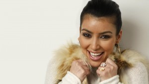photo of smile Kim Kardashian