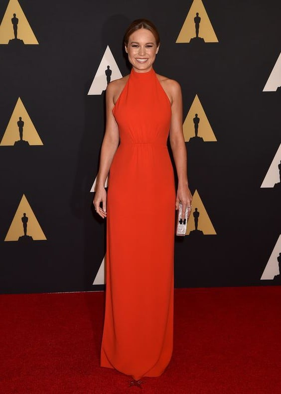 Photo of Brie Larson red dress