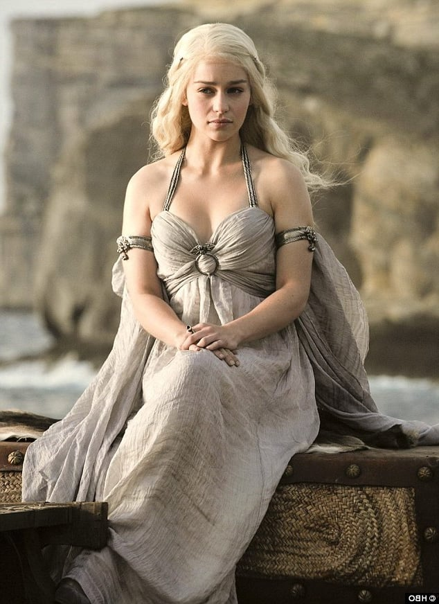 Free pic of Emilia Clarke in dress Game of Thrones