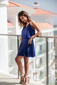 Awesome Jessica Alba blue dress picture