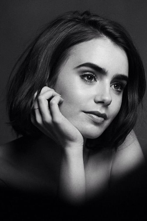 Lily Collins bw Android themes
