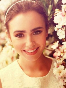 Awesome Lily Collins wallpaper for iPhone smile picture