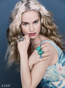 Lily James hair photo