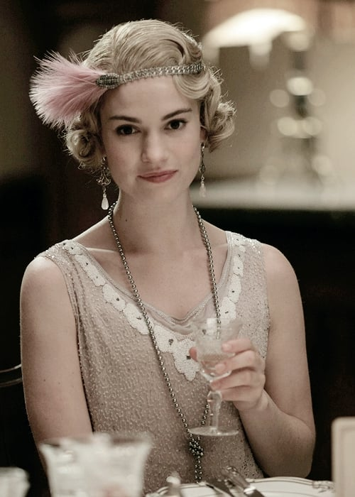 Lily James hairstyle HD image