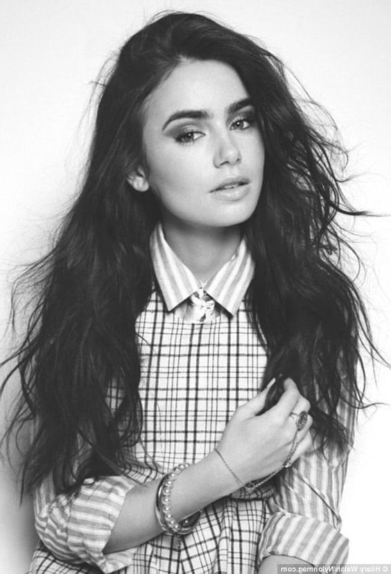 Iphone wallpaper all black - 34 Lily Collins Hd Wallpapers High Quality Download