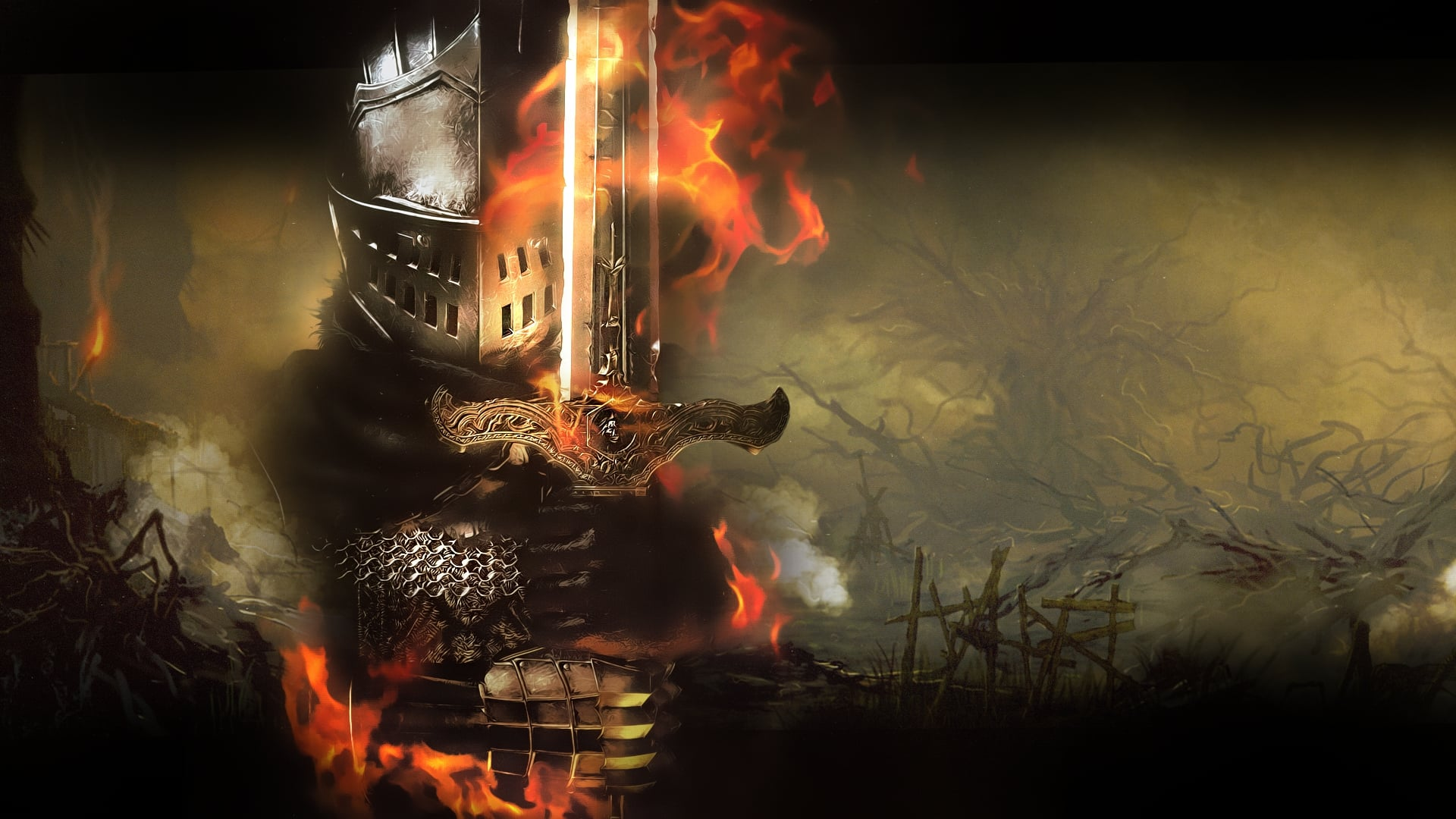 dark souls wallpaper breaking - photo #5