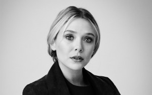 Elizabeth Olsen black and white Desktop Wallpaper Widescreen
