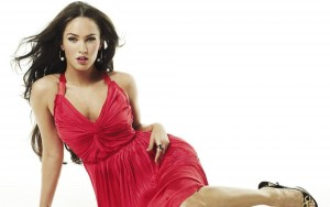 Megan Fox white background