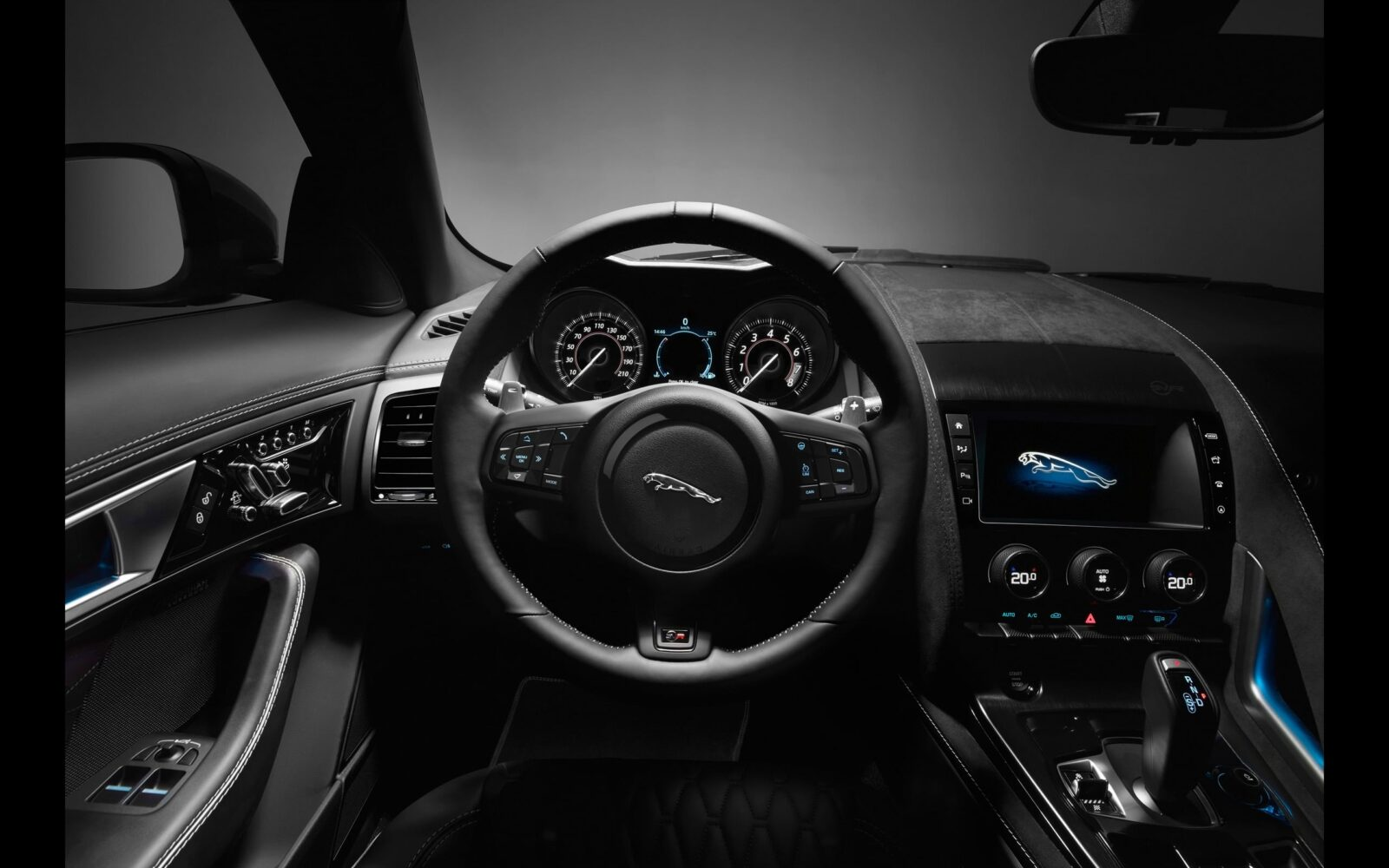 2017 Jaguar F Type SVR Convertible interior 1920x1080 wallpaper
