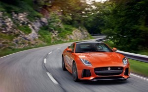 Wallpaper of 2017 Jaguar F Type SVR Coupe road