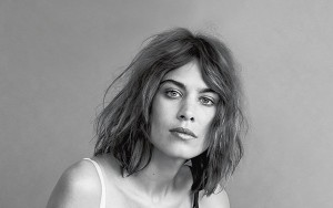 Alexa Chung black and white background image 2016