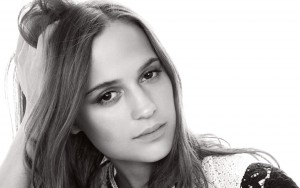 Alicia Vikander black and white wallpapers backgrounds