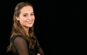 Alicia Vikander wallpaper for PC black smile