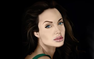 Angelina Jolie wallpaper for desktop art