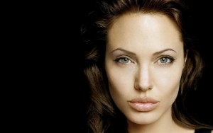 Angelina Jolie black wallpaper HD 1080p