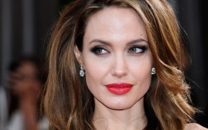 Angelina Jolie wallpaper earrings